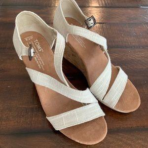 TOMS Wedge Sandals - Women's Sz 7.5